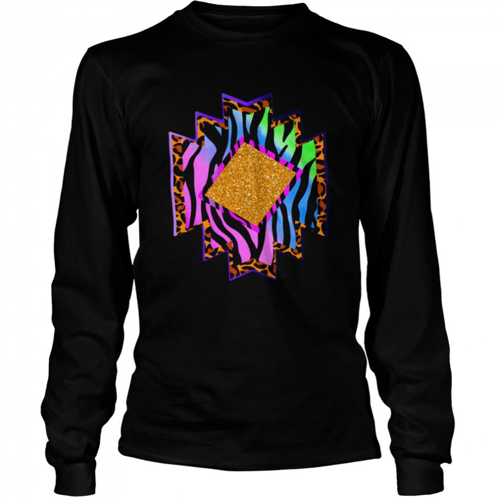 Aztec country shape western rodeo cheetah serape shirt Long Sleeved T-shirt