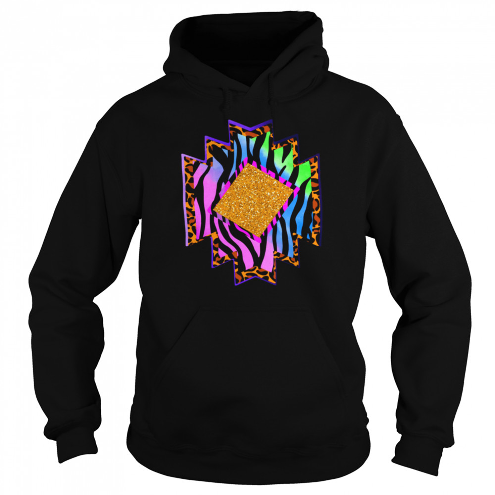 Aztec country shape western rodeo cheetah serape shirt Unisex Hoodie