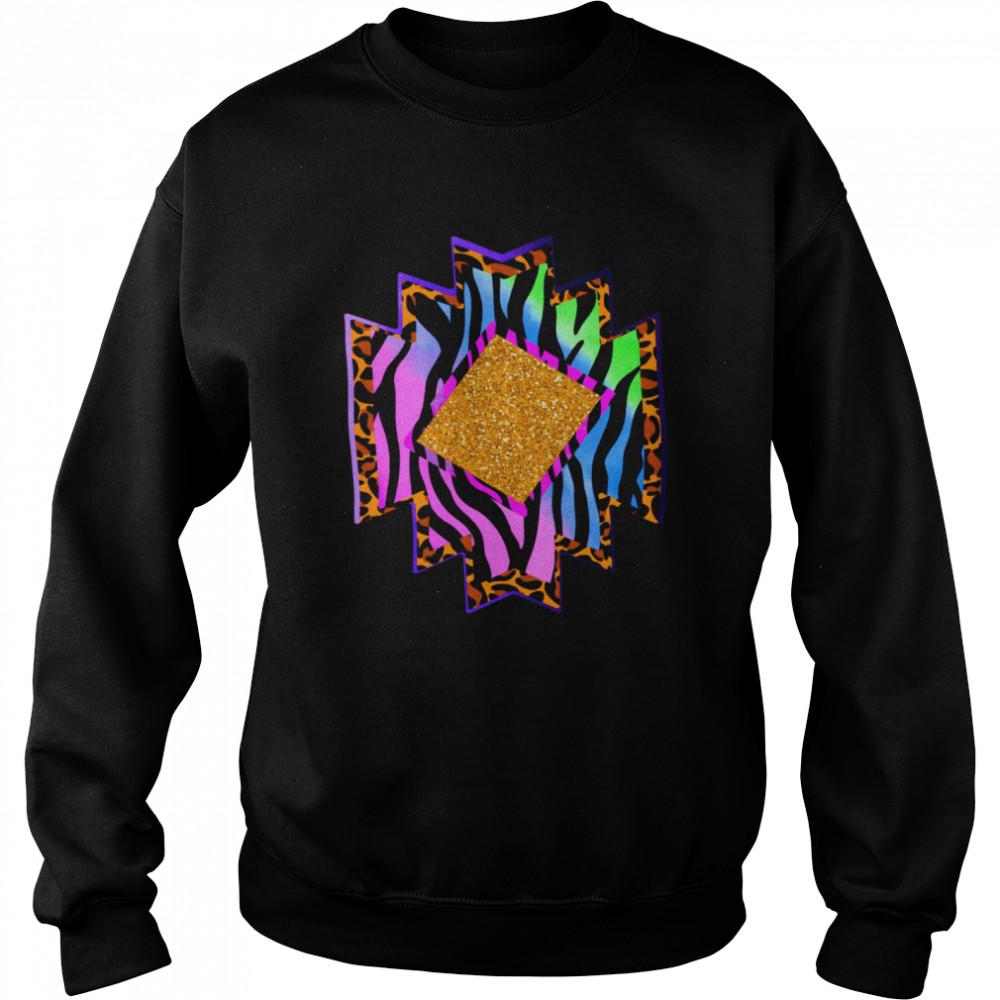 Aztec country shape western rodeo cheetah serape shirt Unisex Sweatshirt