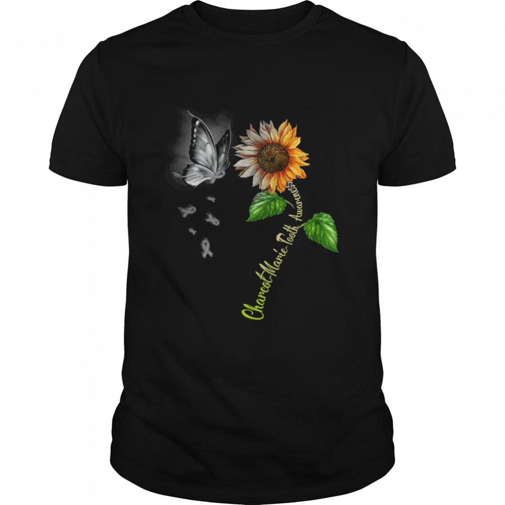 Butterfly Sunflower Charcot Marie Tooth Awareness shirt Classic Men's T-shirt