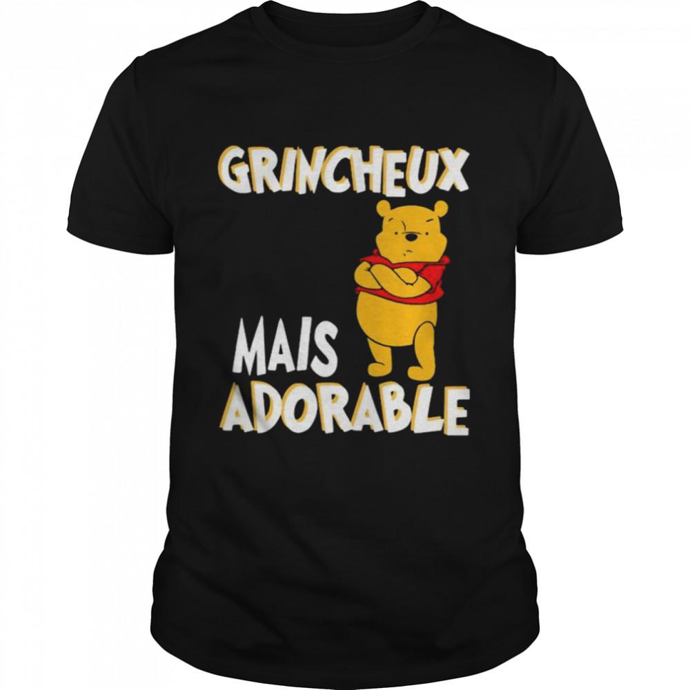 Grincheux Mais Adorable Pooh  Classic Men's T-shirt