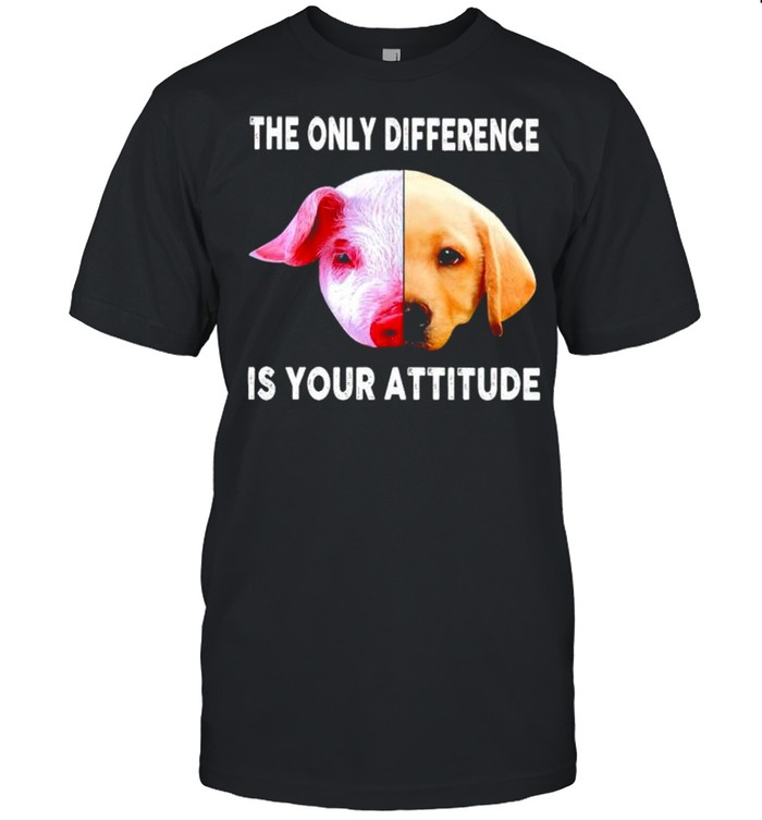 Pig and dog the only difference is your attitude shirt Classic Men's T-shirt