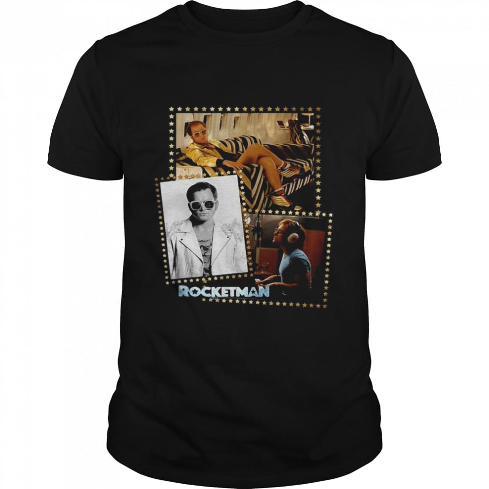 Rocketman Official Elton John Film Montage T-shirt Classic Men's T-shirt