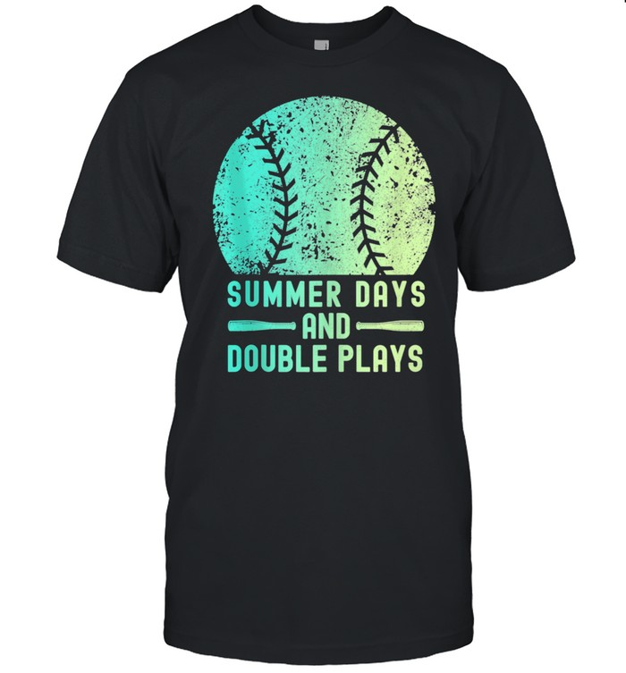 Summer Days And Double Plays Softball  Classic Men's T-shirt