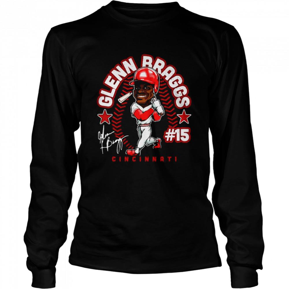 The Glenn Braggs #15 Cincinnati shirt Long Sleeved T-shirt