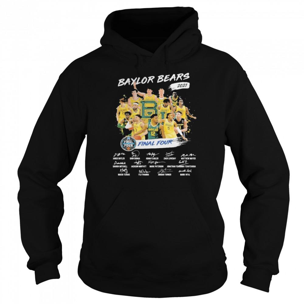 Baylor Bears 2021 Final four signatures shirt Unisex Hoodie