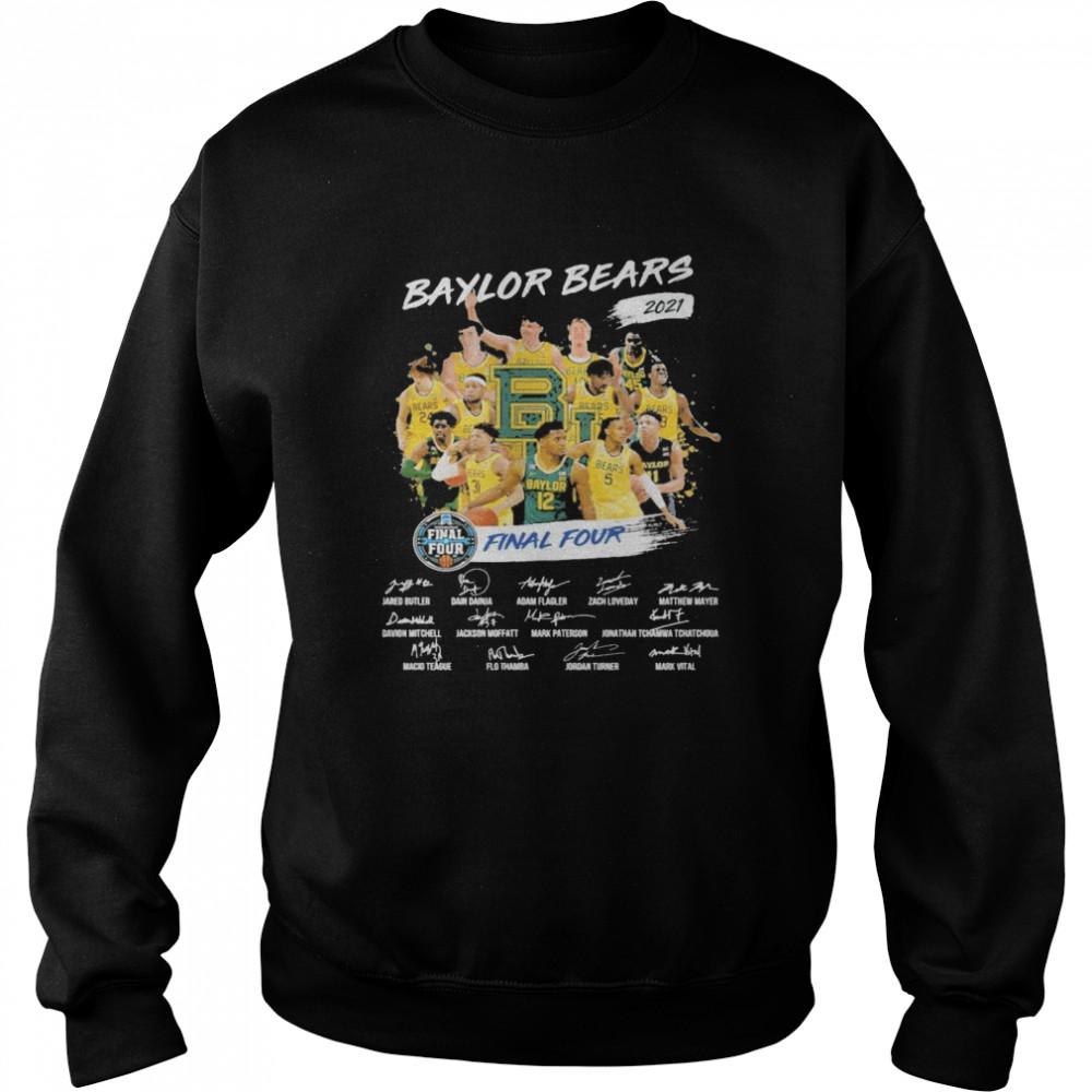 Baylor Bears 2021 Final four signatures shirt Unisex Sweatshirt