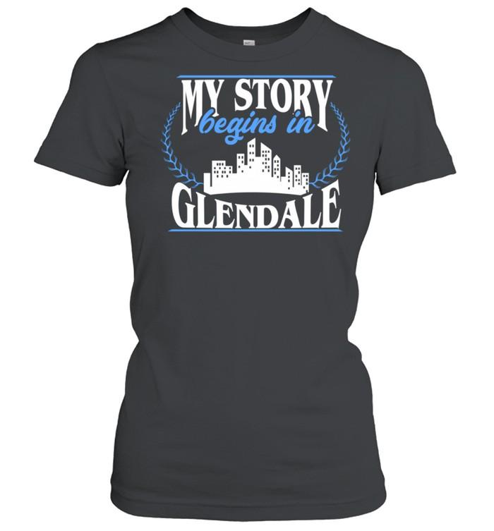 Born in Glendale  Classic Women's T-shirt