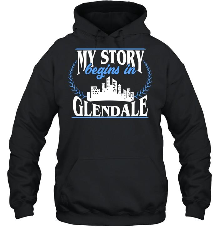 Born in Glendale  Unisex Hoodie