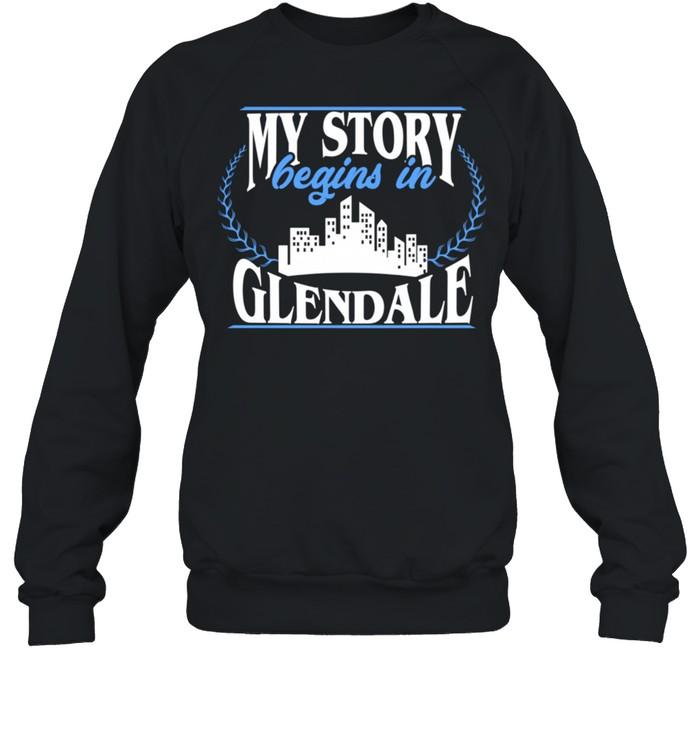 Born in Glendale  Unisex Sweatshirt