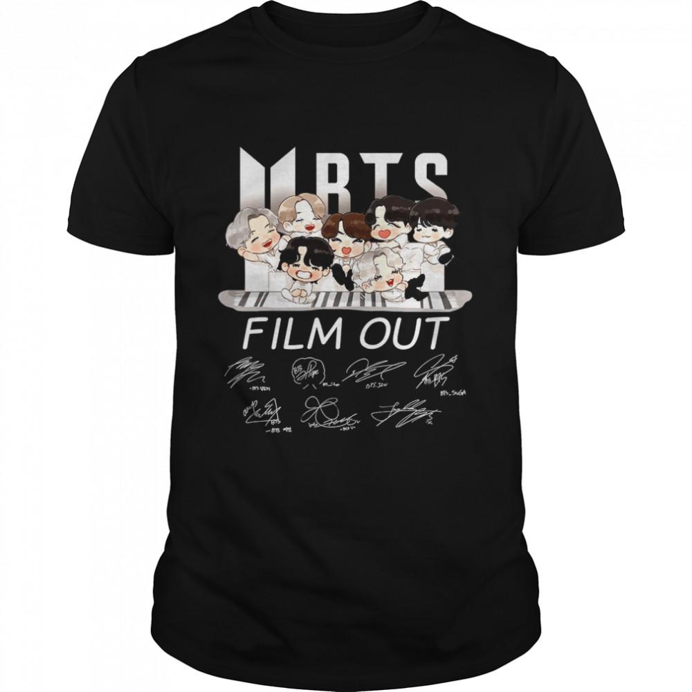 BTS Film Out Signatures shirt Classic Men's T-shirt