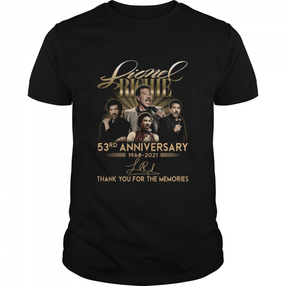 Lionel Richie 53rd anniversary 1968-2021 thank you for the memories signature shirt Classic Men's T-shirt