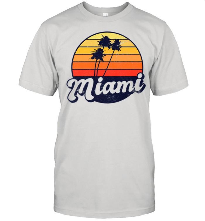 Miami Retro Style Distressed Tropical Sunset shirt Classic Men's T-shirt
