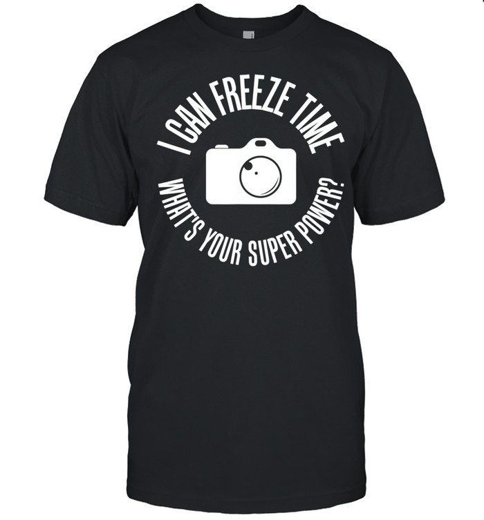 Photography Freeze Time Photographers  Classic Men's T-shirt