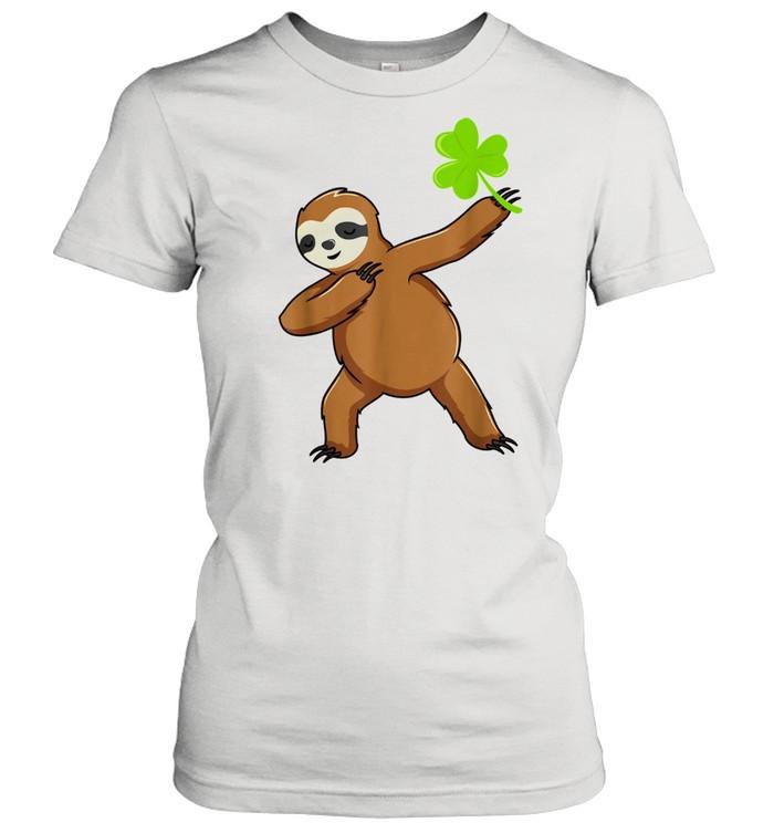 Irish Leprechaun Dabbing Sloth St Patrick's Day Green shirt Classic Women's T-shirt