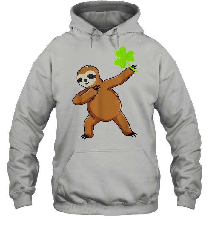 Irish Leprechaun Dabbing Sloth St Patrick's Day Green shirt Unisex Hoodie