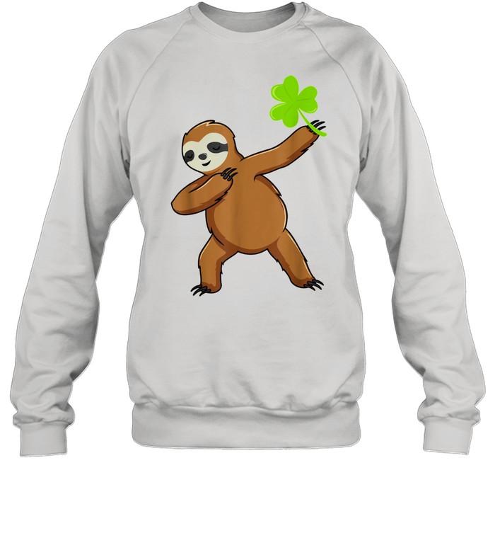 Irish Leprechaun Dabbing Sloth St Patrick's Day Green shirt Unisex Sweatshirt