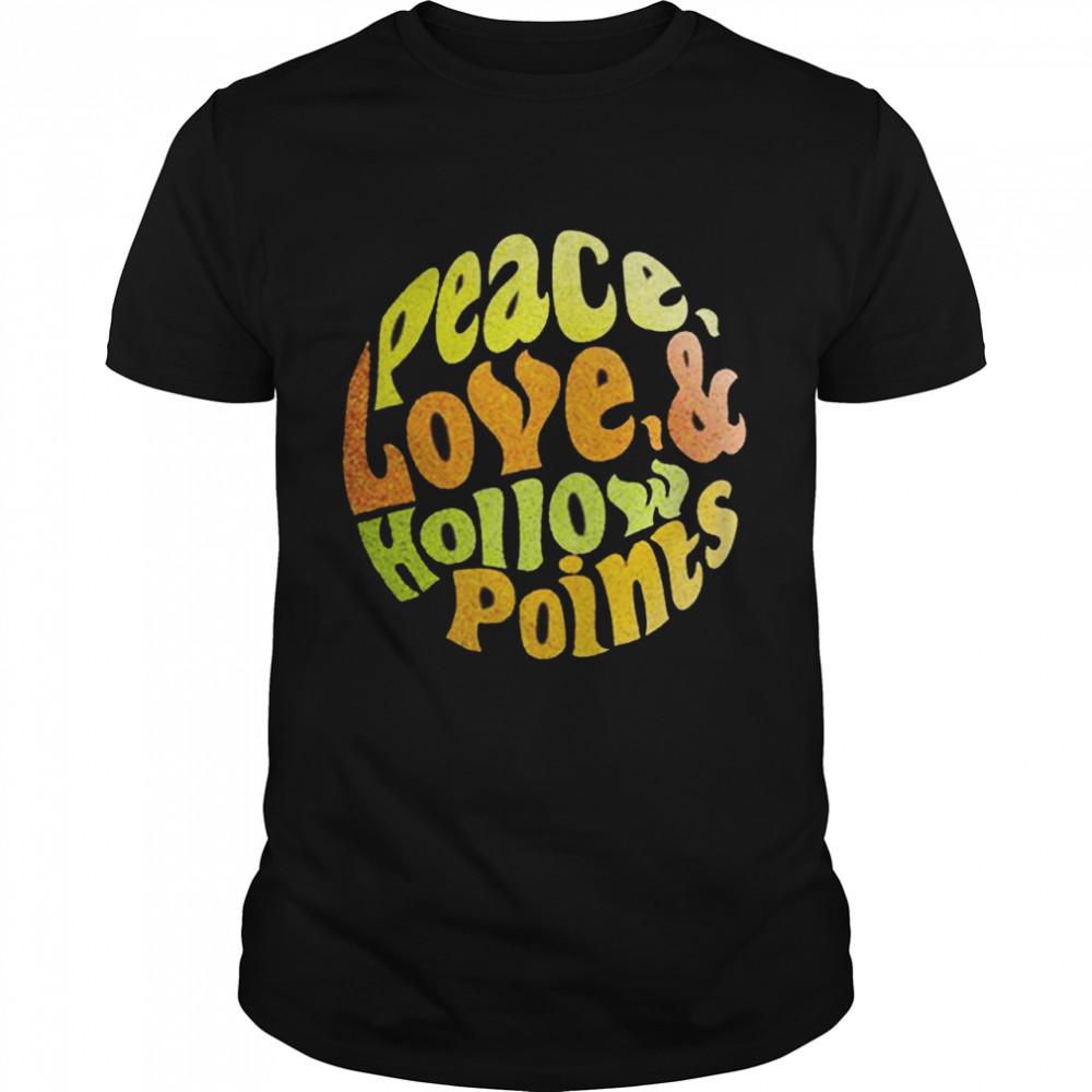 Peace Love Hollow Points  Classic Men's T-shirt