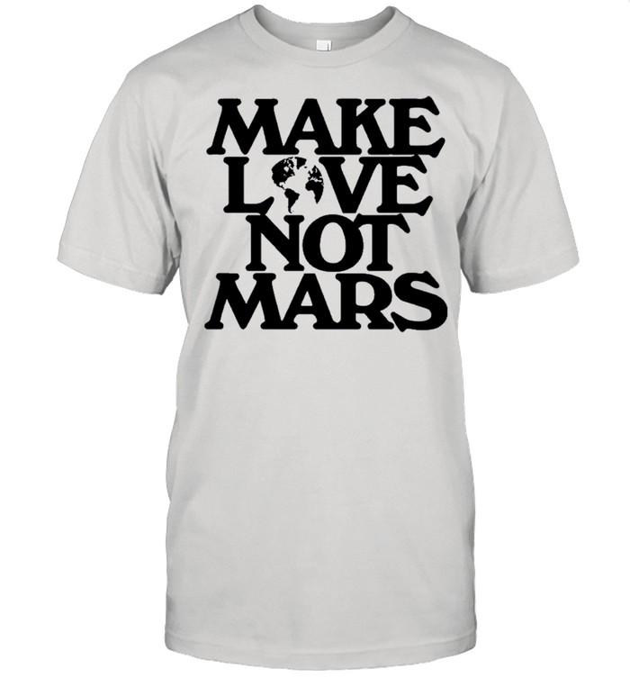 Make Love Not Mars shirt Classic Men's T-shirt