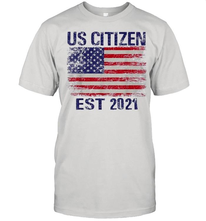 Personalized new american citizen est 2021 shirt Classic Men's T-shirt
