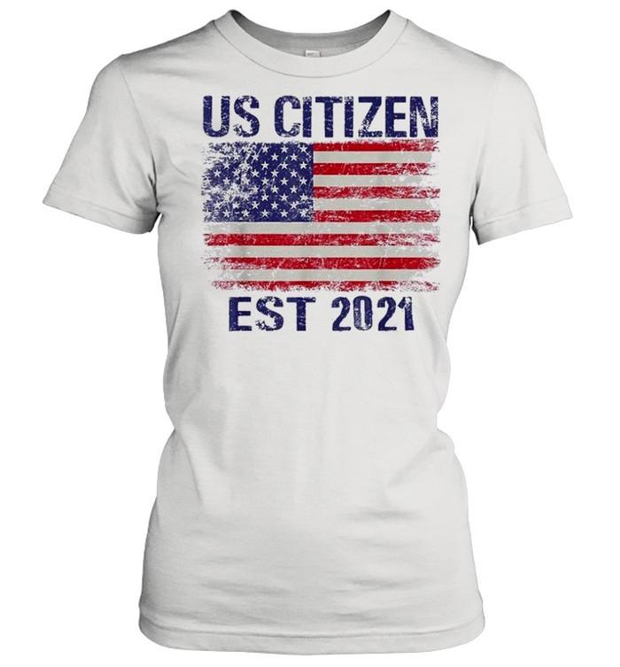 Personalized new american citizen est 2021 shirt Classic Women's T-shirt