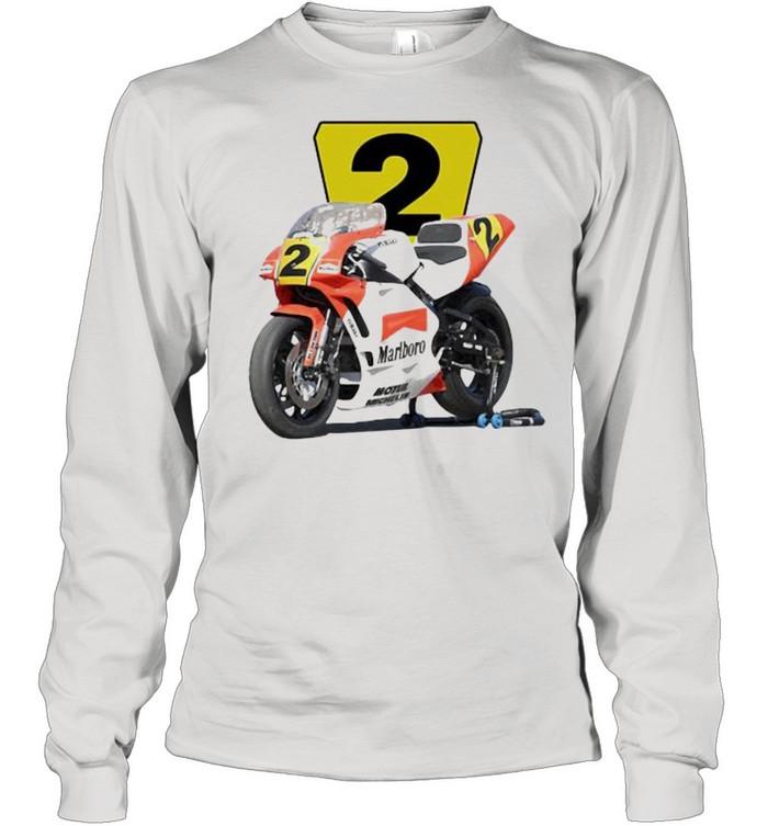 1990 Wayne Rainey Marlboro Roberts Yzr500 Racing  Long Sleeved T-shirt