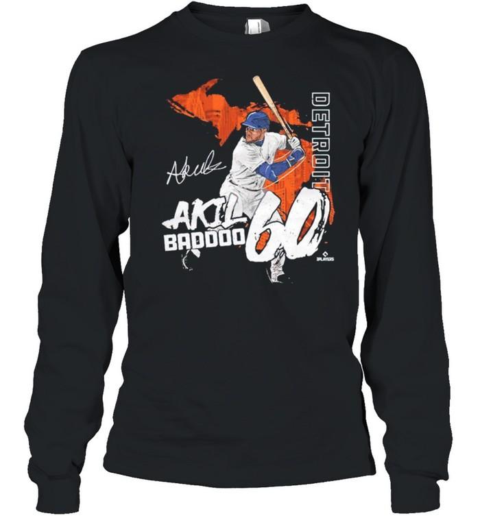Detroit Akil Baddoo signature shirt Long Sleeved T-shirt