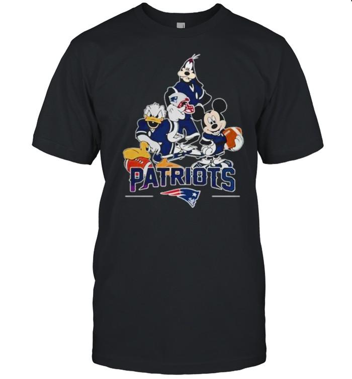 Disney characters mashup new england Patriots shirt Classic Men's T-shirt