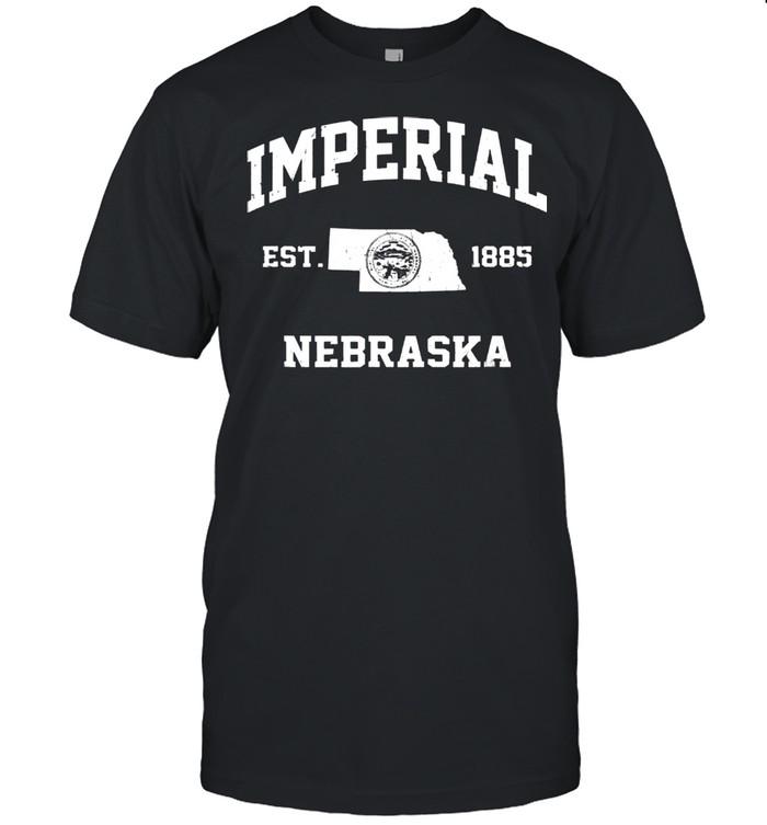 Imperial Nebraska NE vintage State Athletic style shirt Classic Men's T-shirt