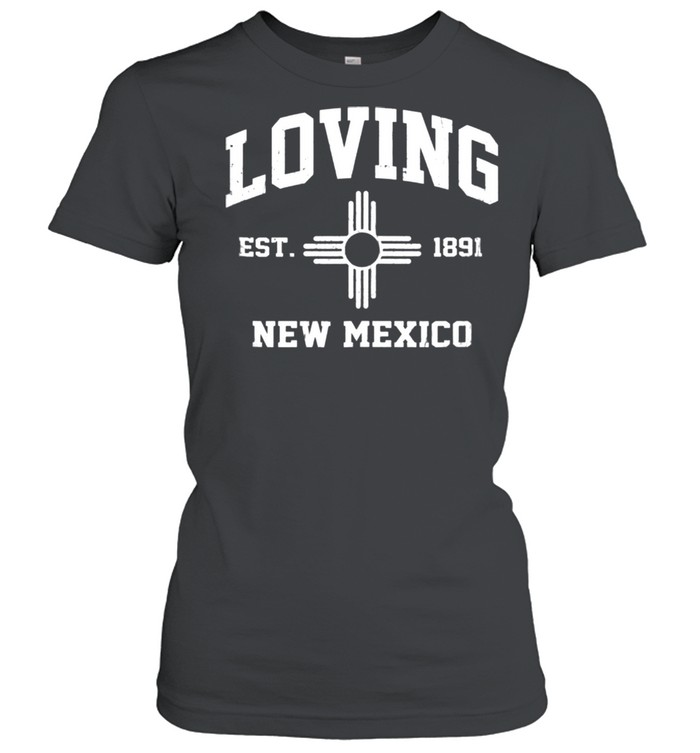 Loving New Mexico NM vintage State Athletic style shirt Classic Women's T-shirt