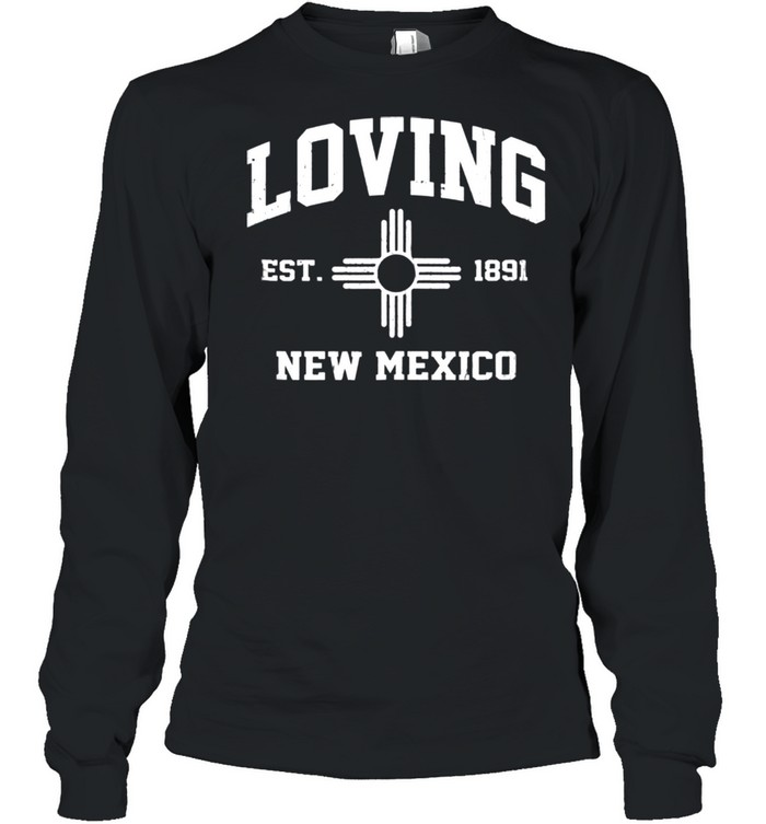 Loving New Mexico NM vintage State Athletic style shirt Long Sleeved T-shirt