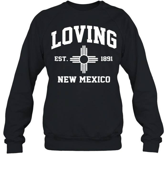 Loving New Mexico NM vintage State Athletic style shirt Unisex Sweatshirt