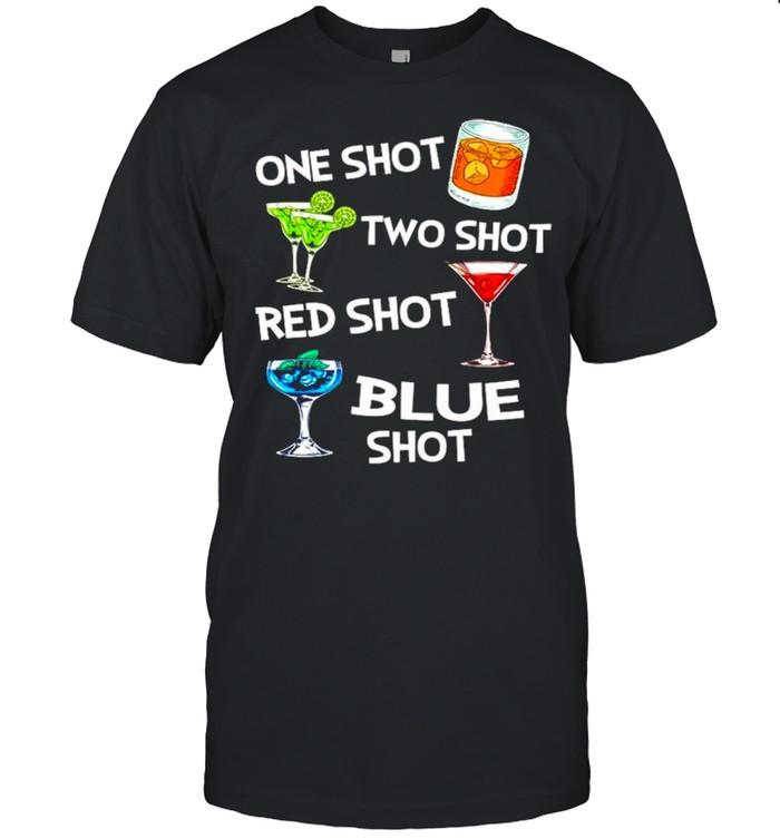 One shot two shot red shot blue shot shirt Classic Men's T-shirt