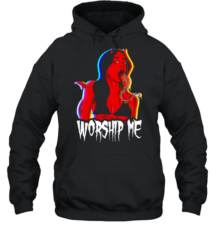 Worship Me Tee By Ghost And Darkness  Unisex Hoodie