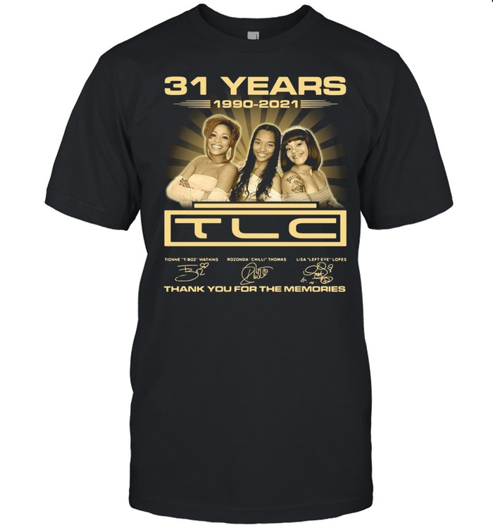 31 years 19902-2021 TLC thank you for the memories signatures shirt Classic Men's T-shirt