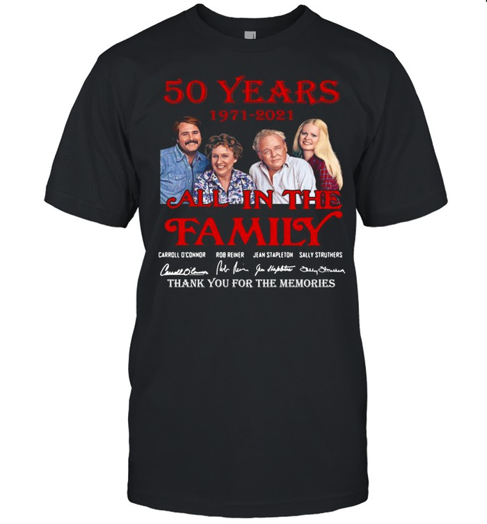 50 years 1971 2021 All In The Family thank you for the memories signatures shirt Classic Men's T-shirt