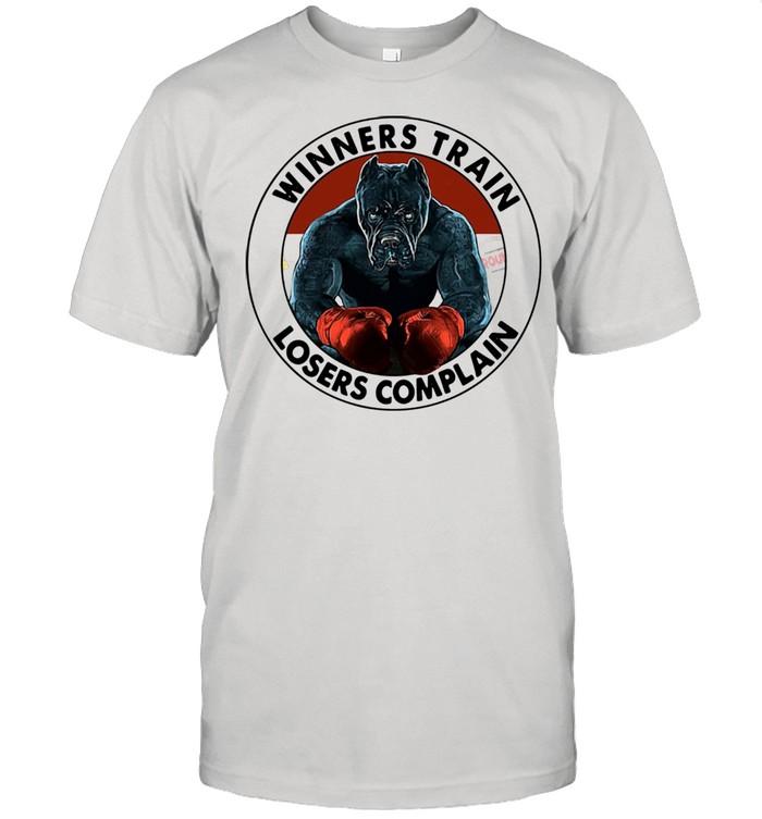 Pitbull Winners Train Losers Complain shirt Classic Men's T-shirt