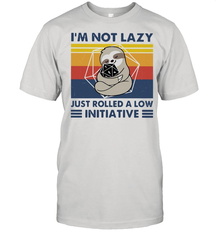 Sloth I'm Not Lazy Just Rolled A Low Initiative Vintage  Classic Men's T-shirt