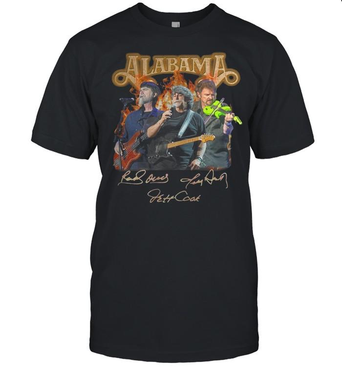 Alabama band Randy Owen Jeff Cook Teddy Gentry sign shirt Classic Men's T-shirt