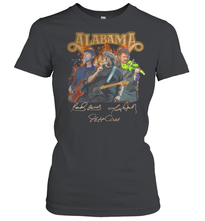 Alabama band Randy Owen Jeff Cook Teddy Gentry sign shirt Classic Women's T-shirt