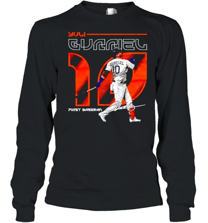 Houston Baseball Yuli Gurriel first baseman signature shirt Long Sleeved T-shirt