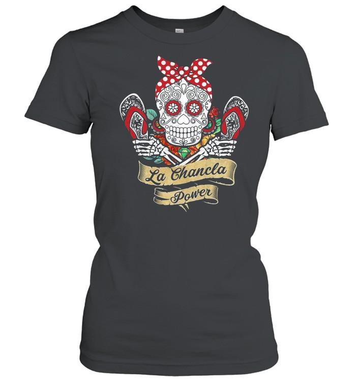 Sugar Skull La Chancla Power  Classic Women's T-shirt