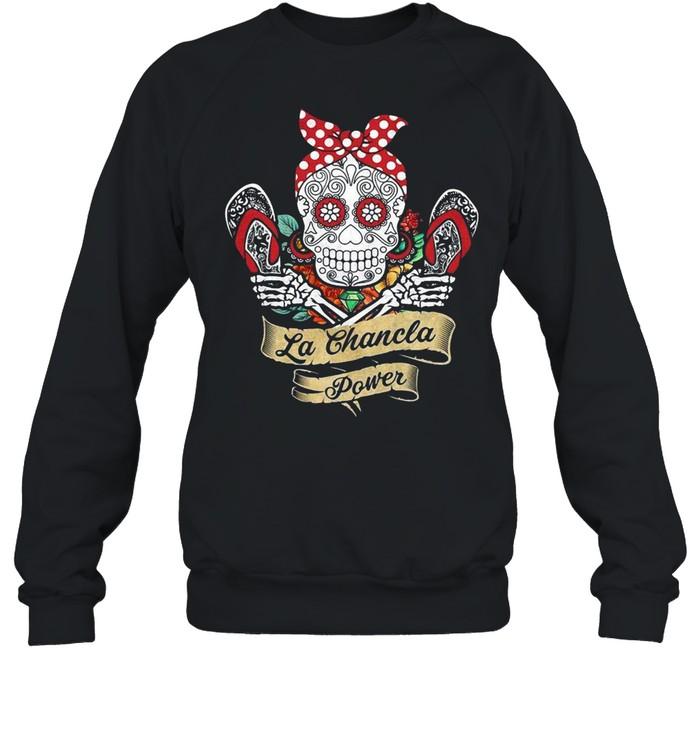 Sugar Skull La Chancla Power  Unisex Sweatshirt