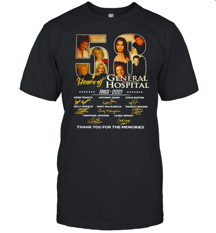 58 Years Of General Hospital 1963 2021 Signatures Thank You For The Memories shirt Classic Men's T-shirt