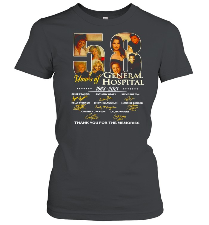 58 Years Of General Hospital 1963 2021 Signatures Thank You For The Memories shirt Classic Women's T-shirt
