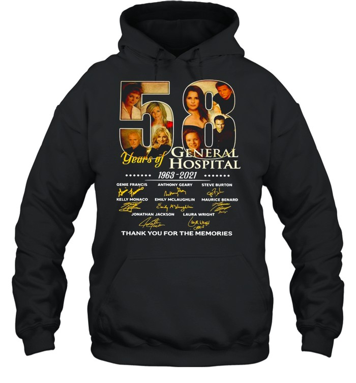 58 Years Of General Hospital 1963 2021 Signatures Thank You For The Memories shirt Unisex Hoodie