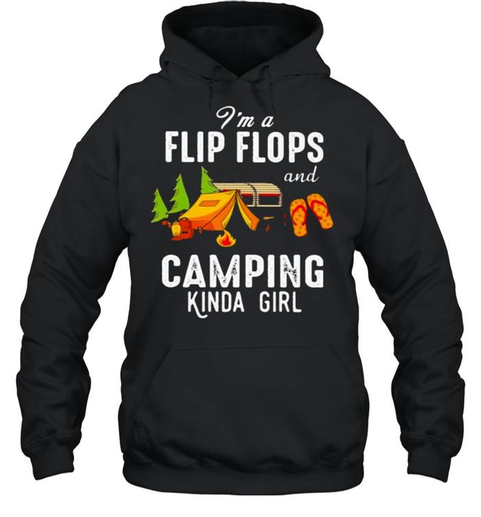 I'm Flip Flops And Camping Kinda Girl Unisex Hoodie
