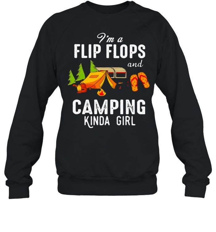 I'm Flip Flops And Camping Kinda Girl Unisex Sweatshirt