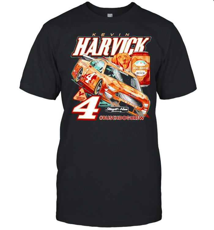 Kevin Harvick Stewart-Haas Racing Team Collection Busch Dog Brew shirt Classic Men's T-shirt