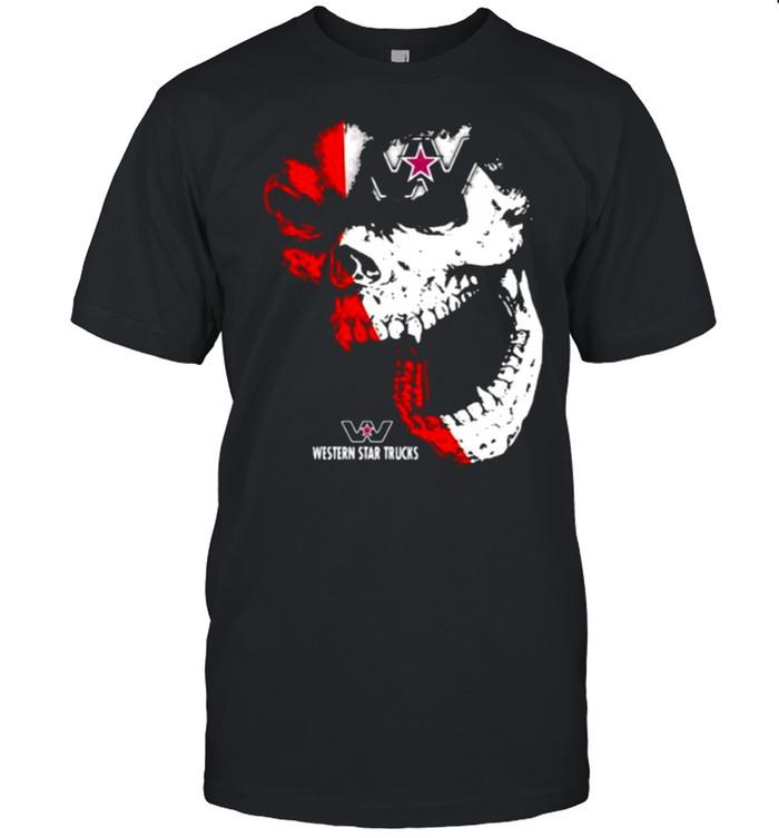 Skull With Western Star Trucks Logo  Classic Men's T-shirt